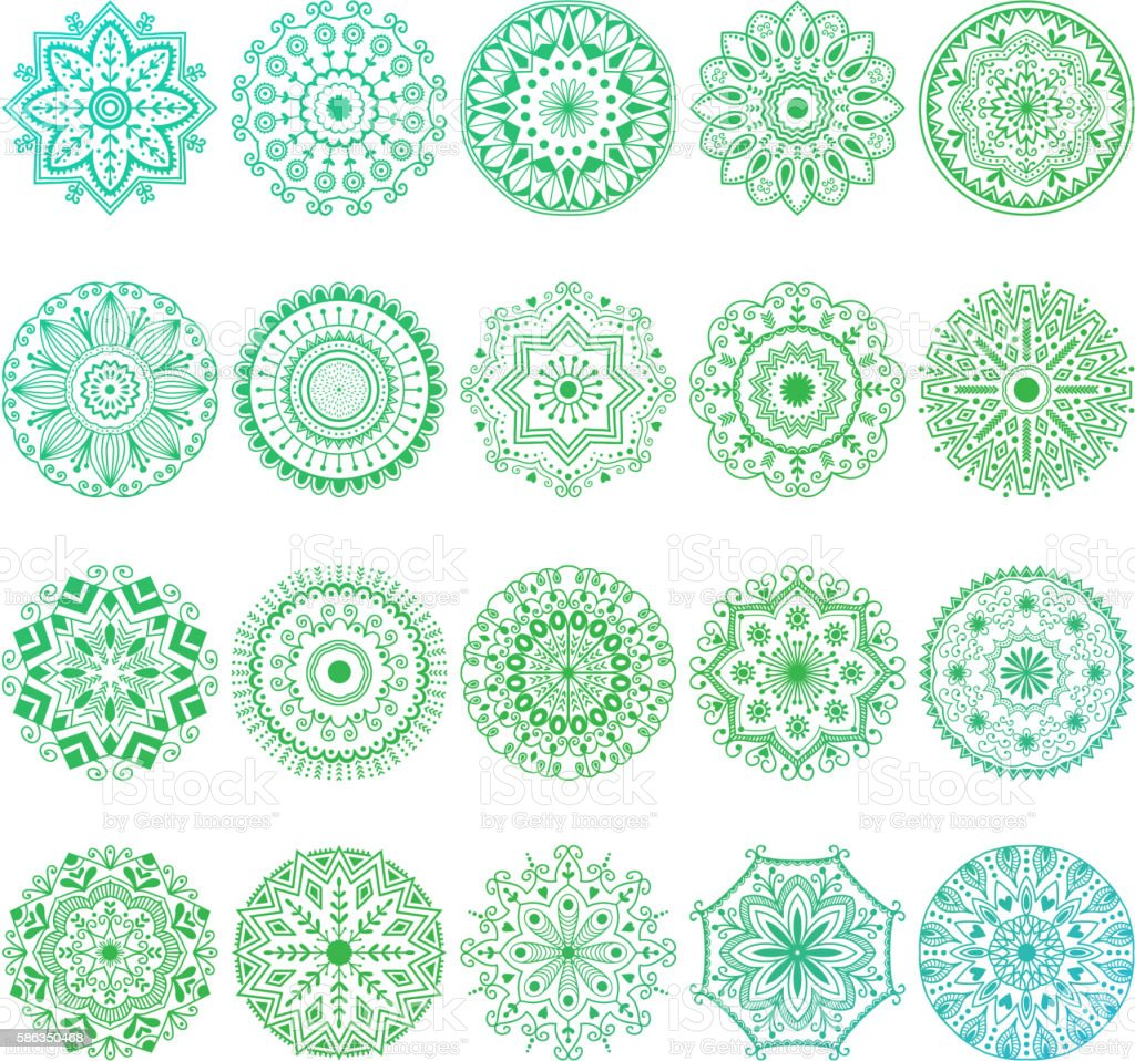 Mehendy mandala flower vector illustration