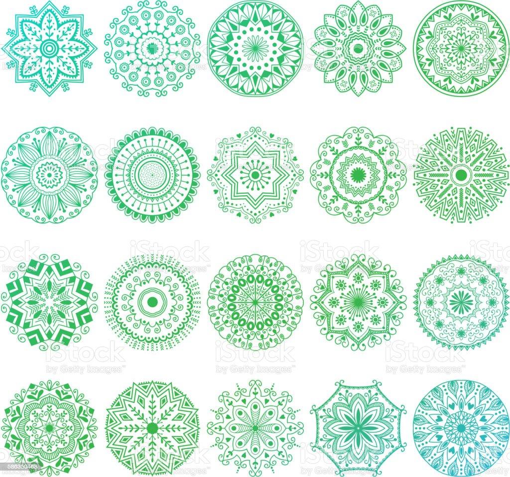 Mehendy mandala flower vector illustration – Vektorgrafik