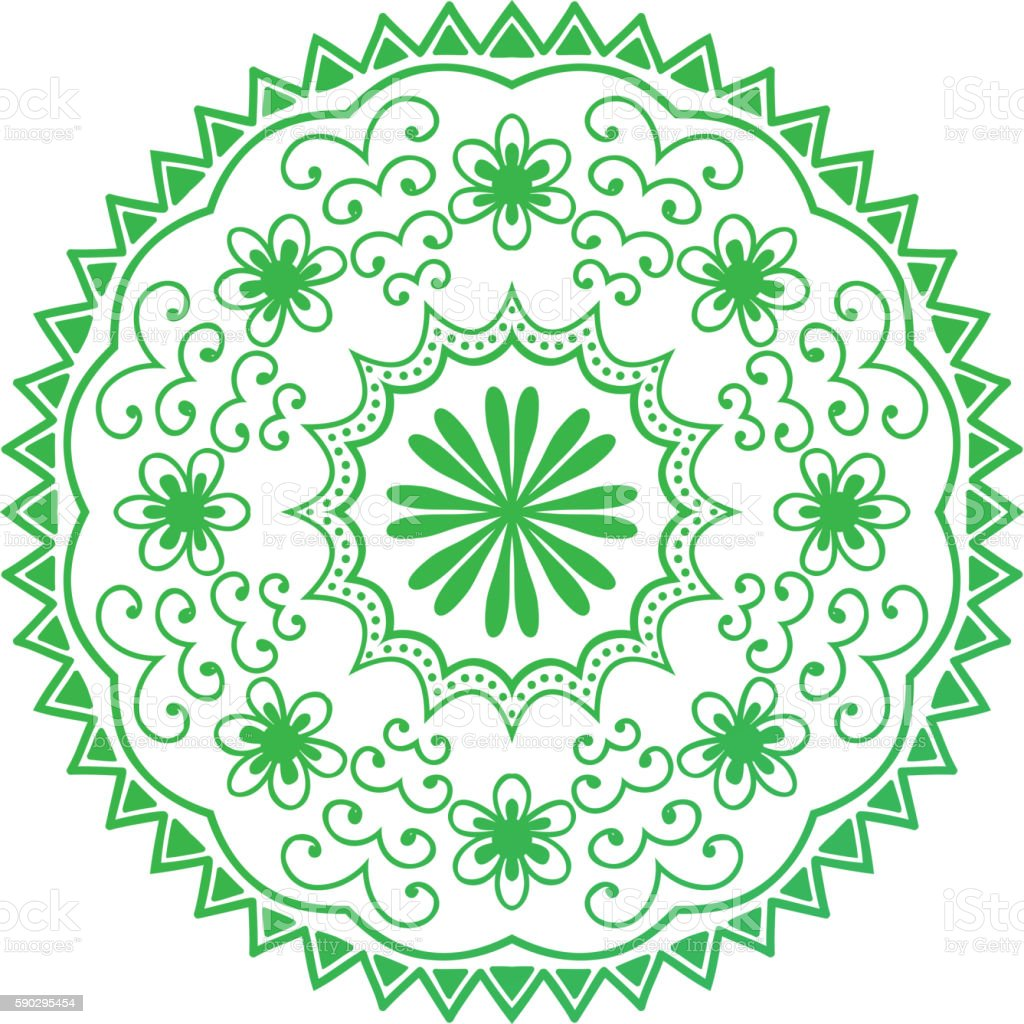 Mehendy mandala flower vector illustration royaltyfri mehendy mandala flower vector illustration-vektorgrafik och fler bilder på abstrakt