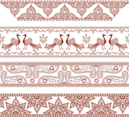 Mehndi Border Designs (Vector)