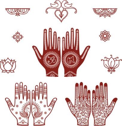 Mehndi Bridal Design Elements