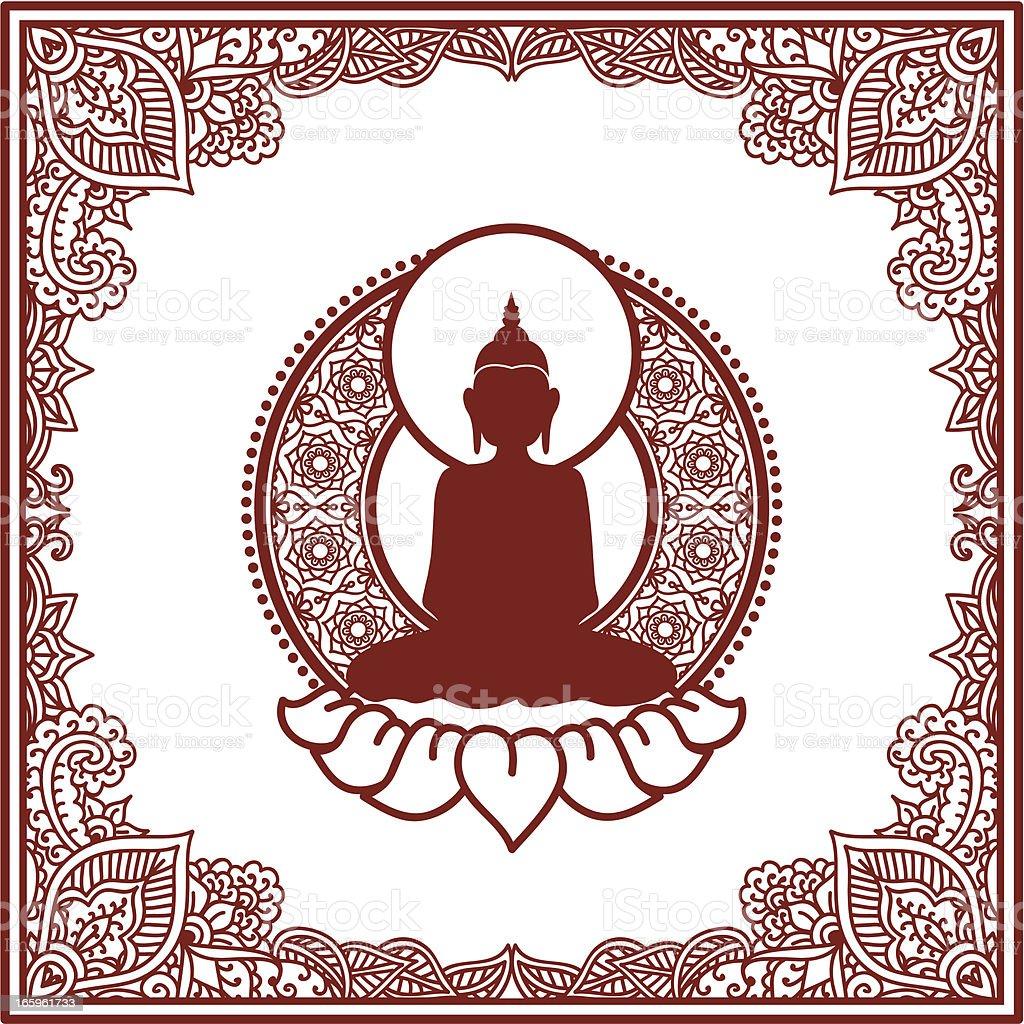 Mehndi Buddha royalty-free stock vector art