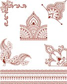 Mehndi Corner Designs (Vector)