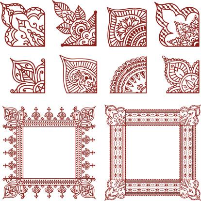 Mehndi Corner Designs