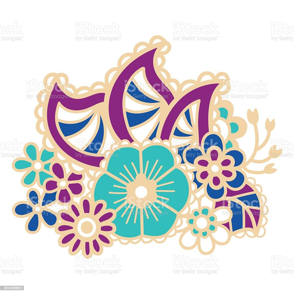 mehndi design patterns royalty free stock vector art