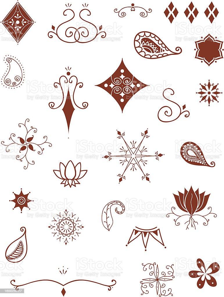Mehndi Patterns Vector : Mehndi designs stock vector art more images of