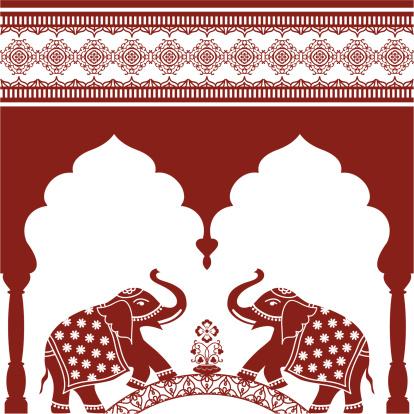 Mehndi Elephant Arch