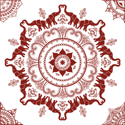 Mehndi Elephant Mandala