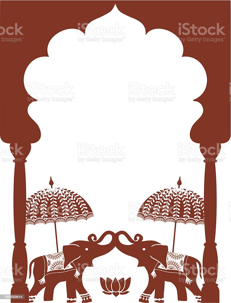 Mehndi Elephants (Vector) royalty-free stock vector art