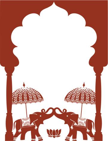 Mehndi Elephants (Vector)