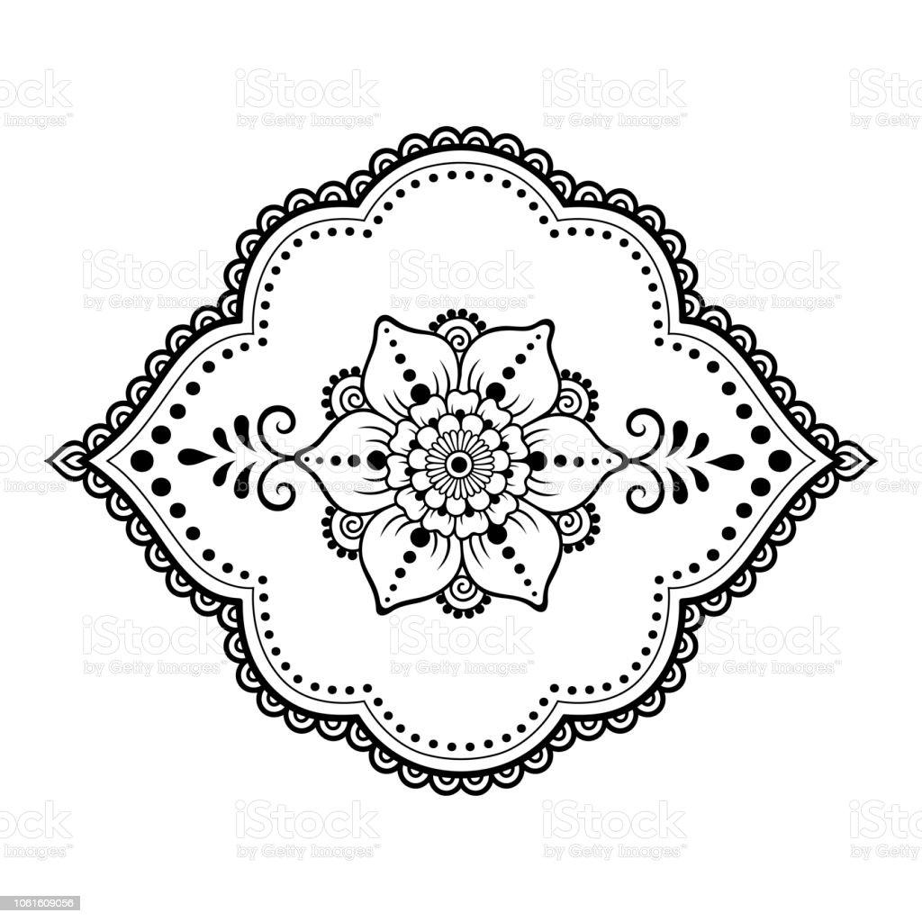 Dessin Pour Henné mehndi sport motif à fleurs pour le dessin de henné et de tatouage