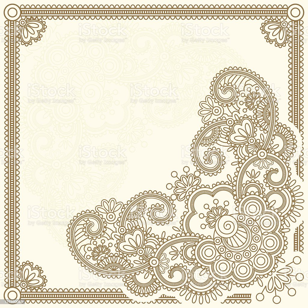 Mehndi flower royalty-free stock vector art