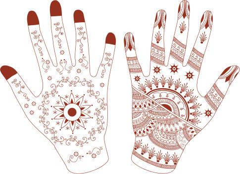Mehndi Hands (Vector)