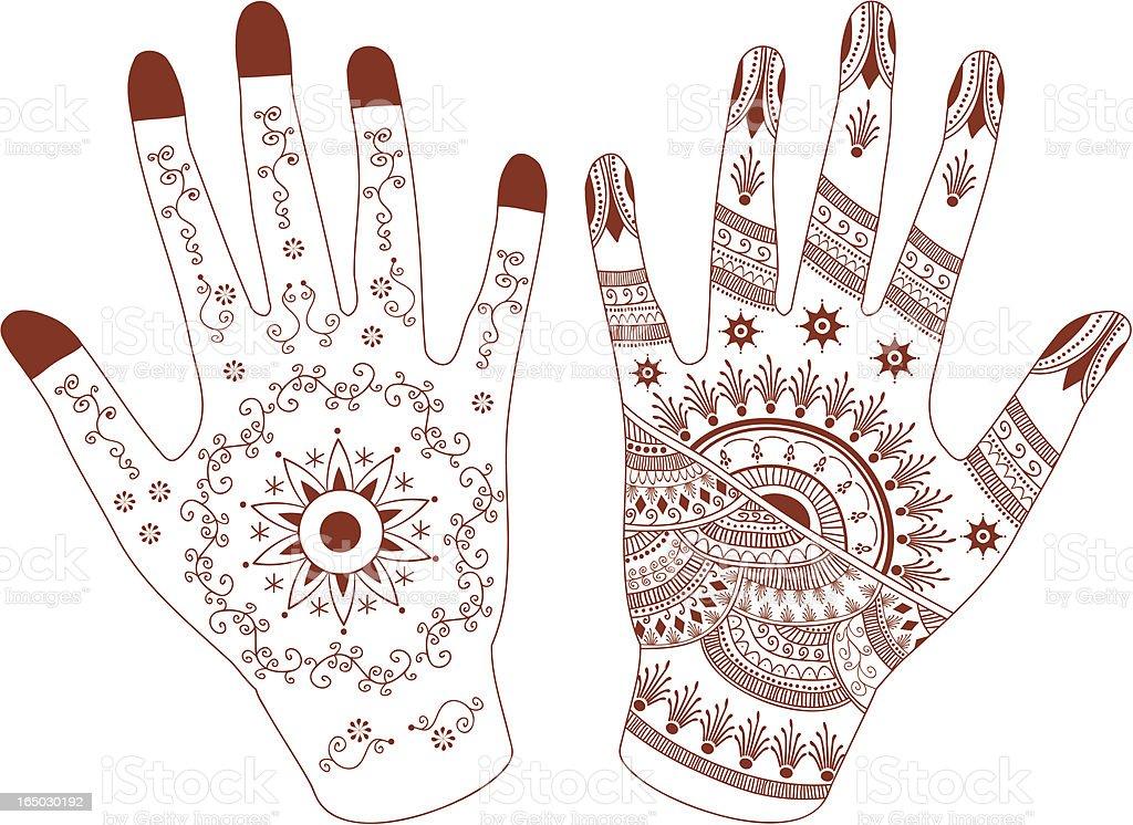 royalty free henna hands clip art vector images illustrations rh istockphoto com Henna Mandala Henna Wallpaper