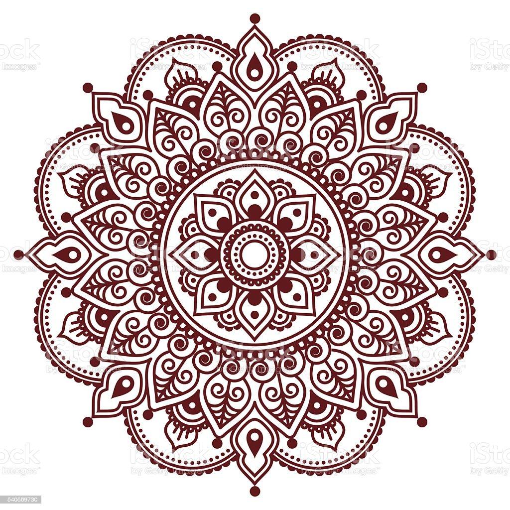 mehndi indischen henna tattoo muster oder hintergrund. Black Bedroom Furniture Sets. Home Design Ideas