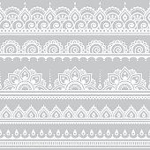 Repetitive vector ornament - orient traditional style on grey