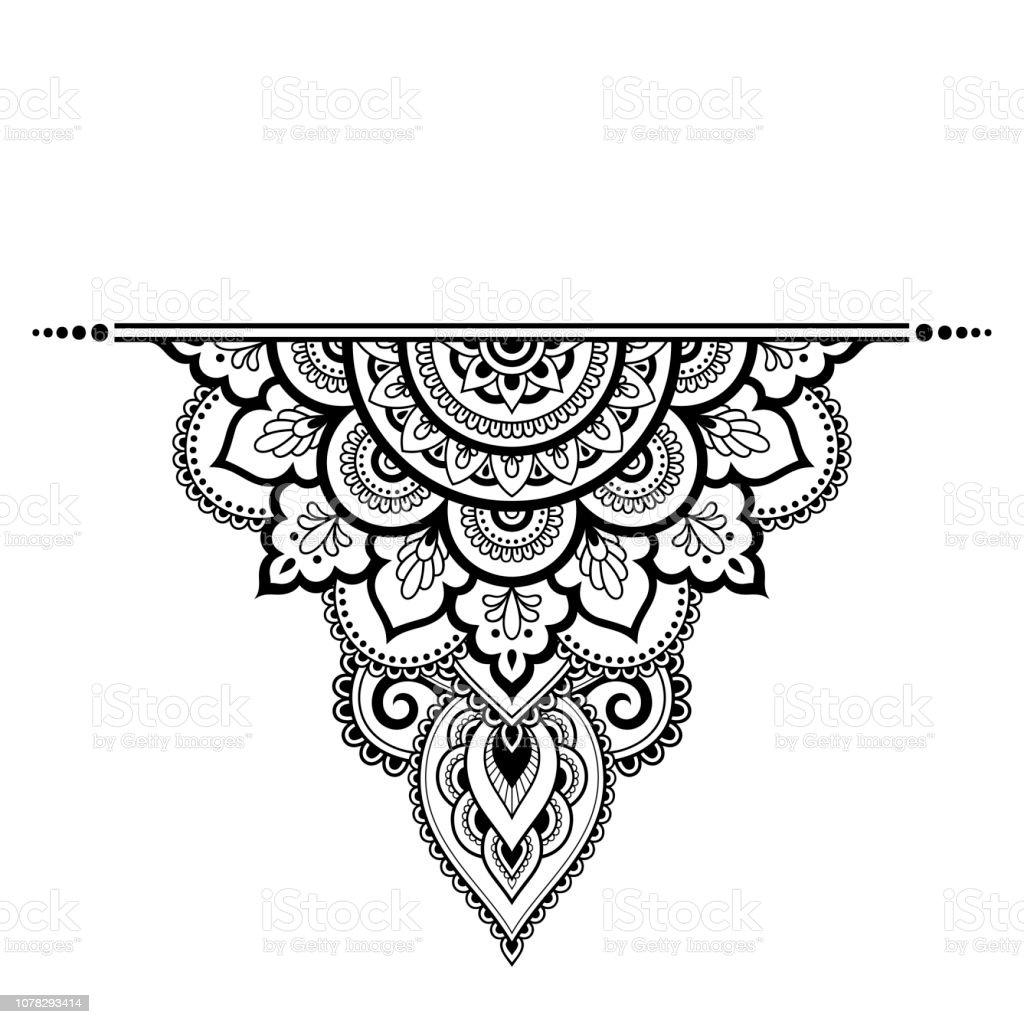 Mod le de mandala de mehndi pour dessin henn et le - Modele de mandala ...
