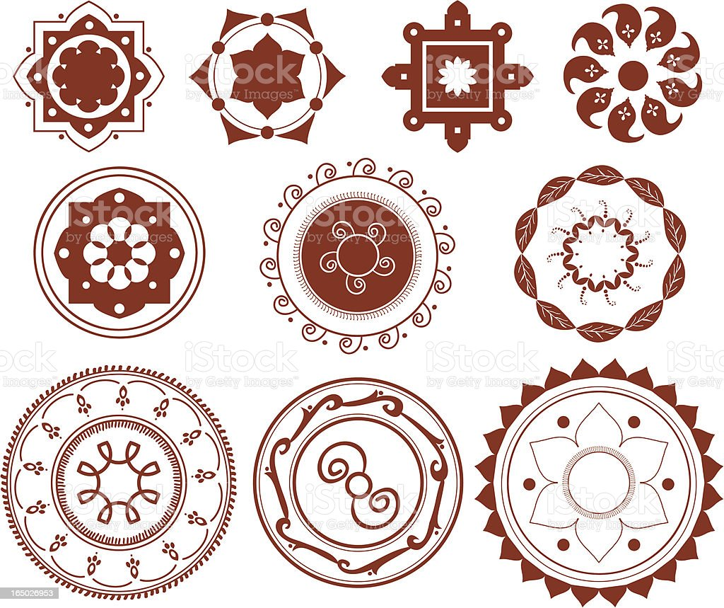 Mehndi Mandalas (Vector) royalty-free mehndi mandalas stock vector art & more images of art and craft