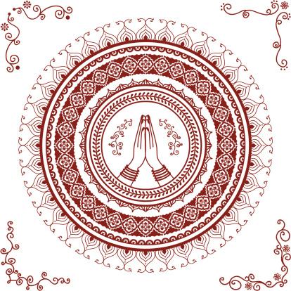 Mehndi Namaste Mandala