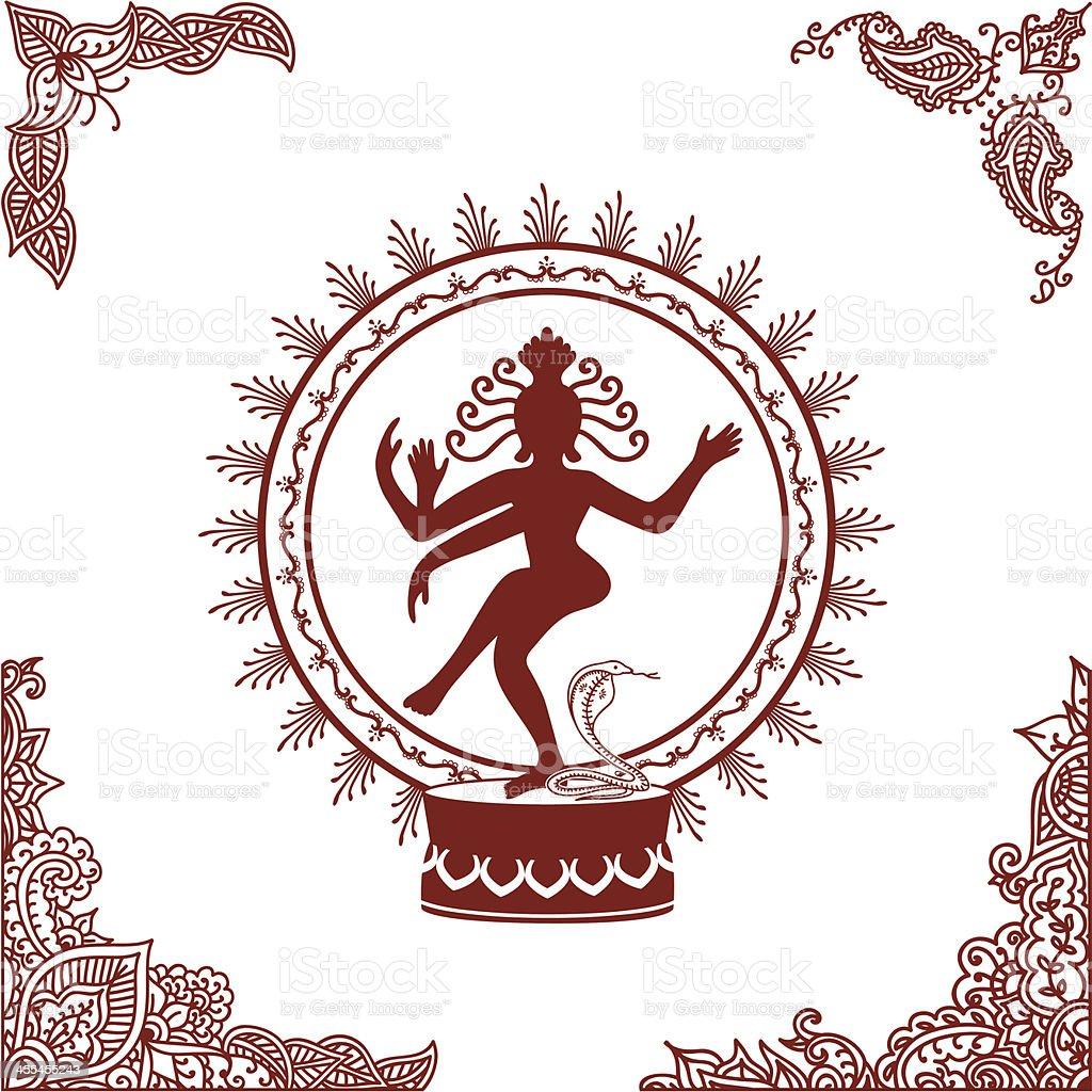 Mehndi Nataraj royalty-free mehndi nataraj stock vector art & more images of angle