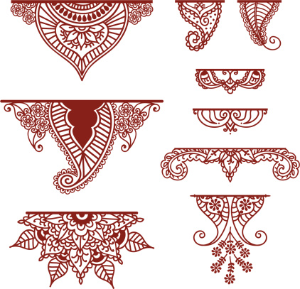 Mehndi Ornaments Stock Illustration - Download Image Now