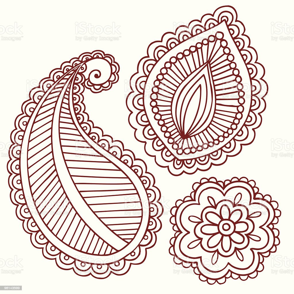 Mehndi Paisley Doodles royalty-free mehndi paisley doodles stock vector art & more images of abstract