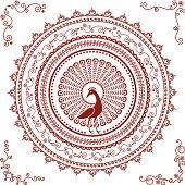 Mehndi Peacock Mandala