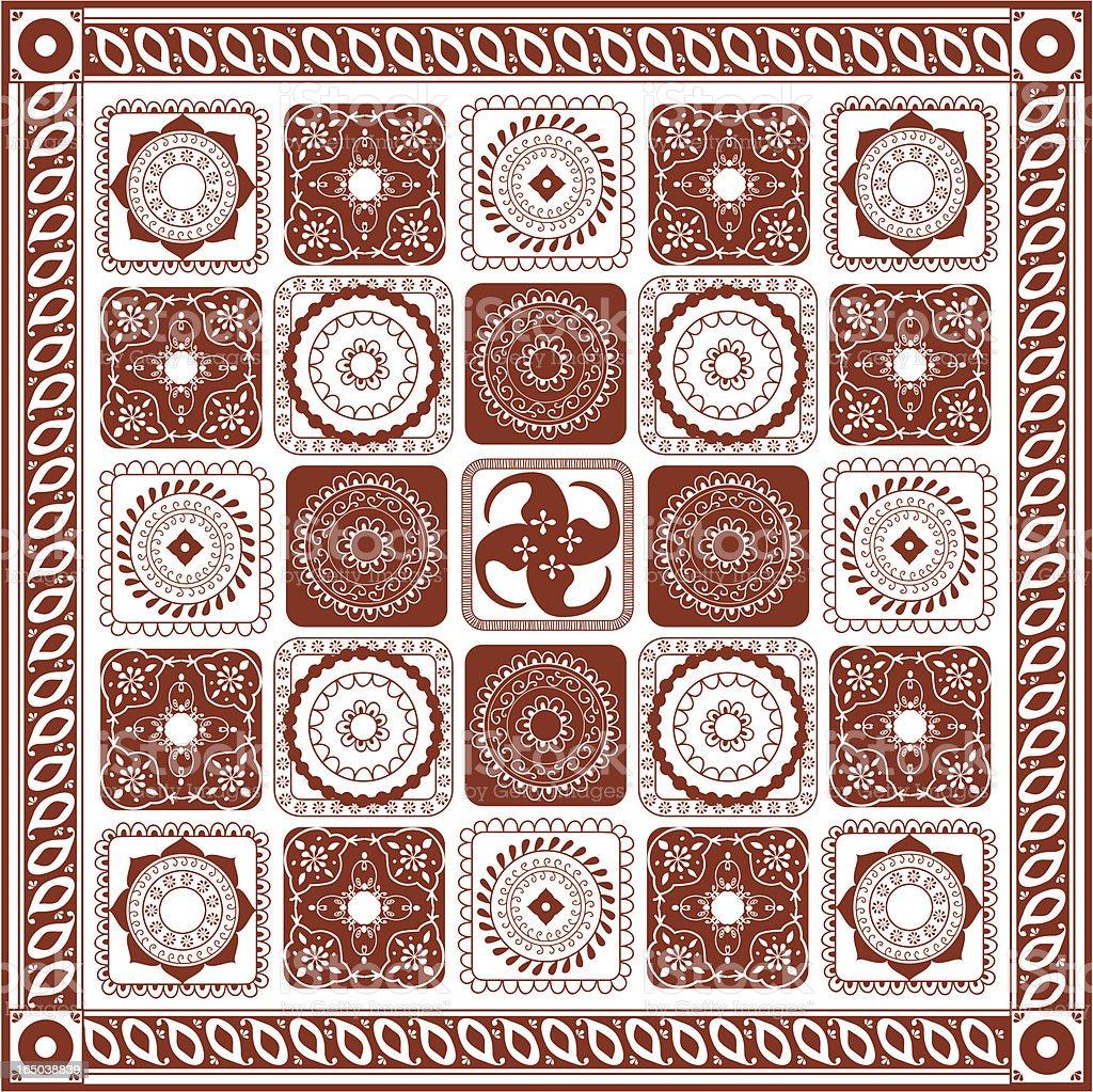 Mehndi Quilt (Vector) royalty-free stock vector art