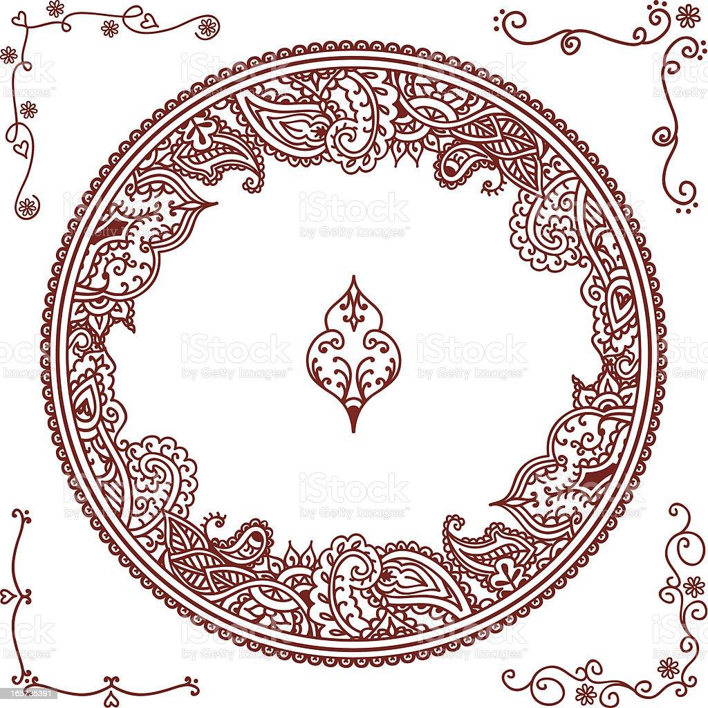 Mehndi Round Border Royalty Free Mehndi Round Border Stock Vector Art U0026amp;  More Images