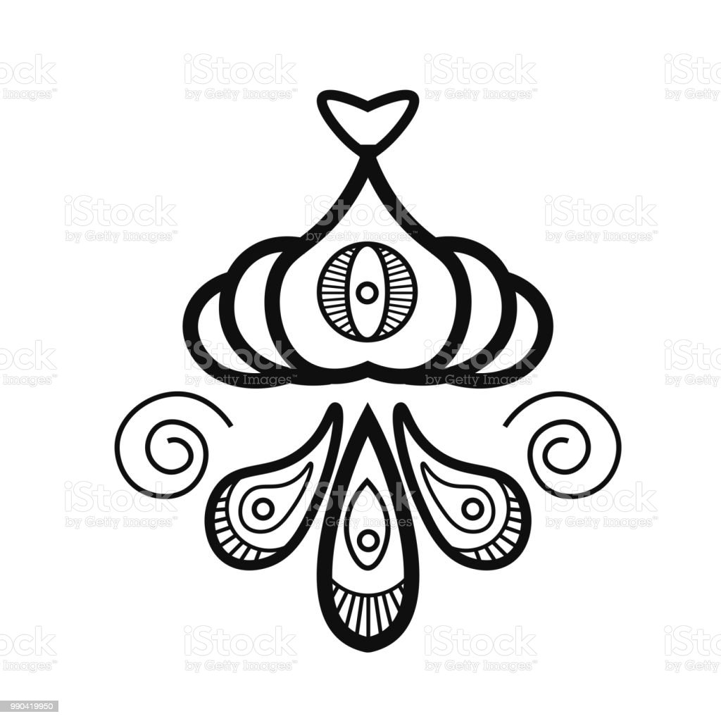 1bd000633 Mehndi traditional indian ethnic symbol. Good for henna design, tattoo,  fabric, textile
