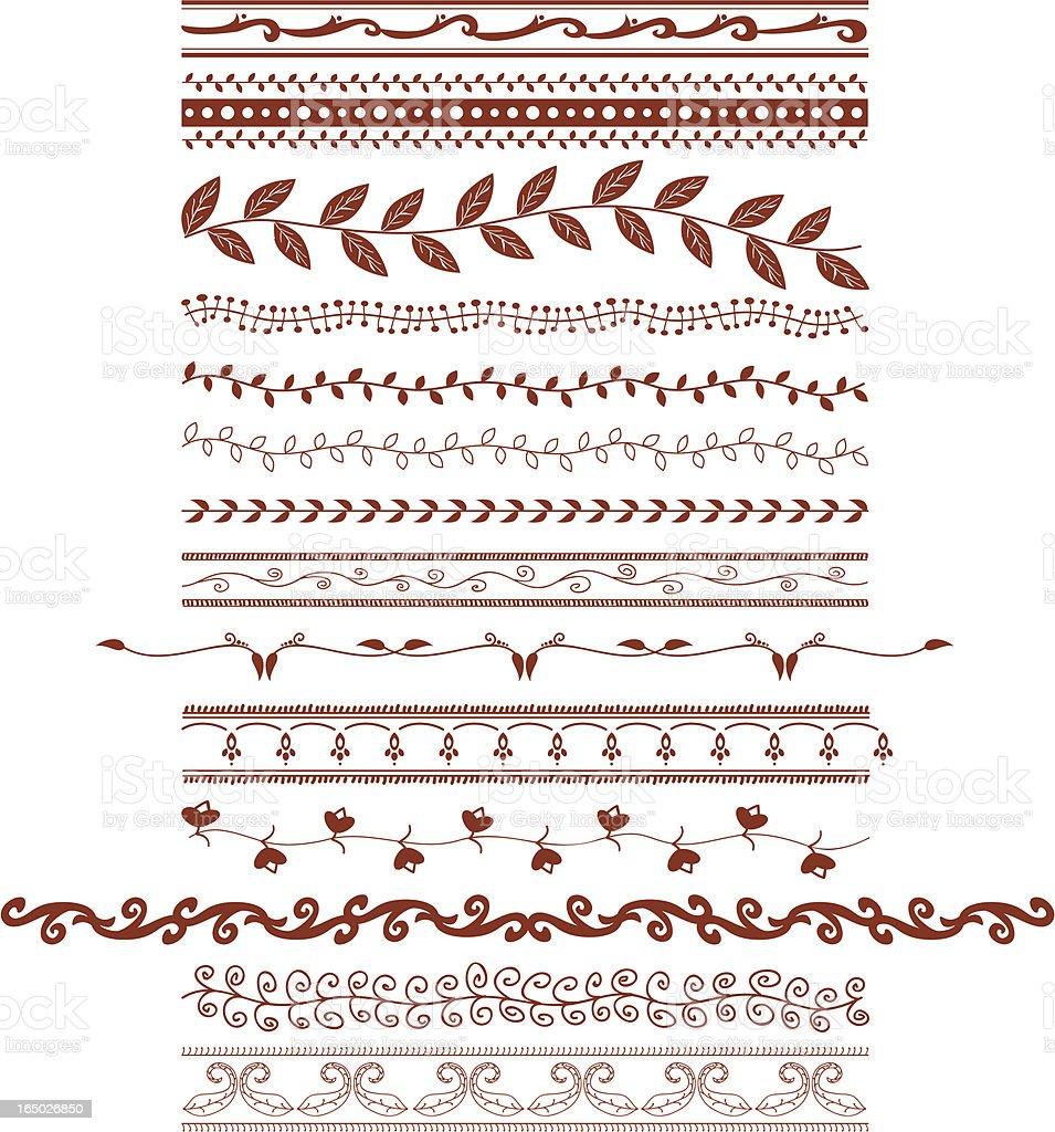 Mehndi Vines (Vector) vector art illustration