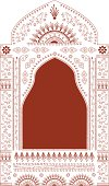 A palace window drawn in mehndi (henna painting) style. (Includes .jpg)