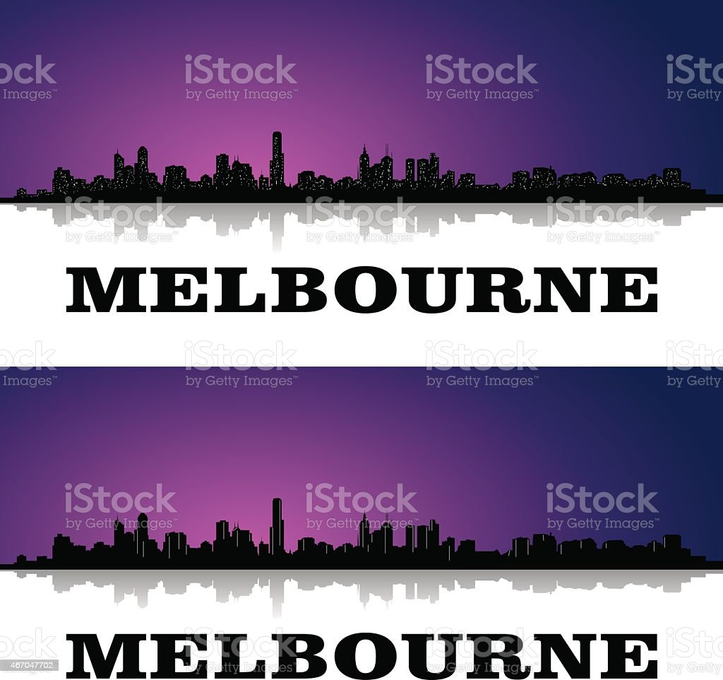 melbourne vector art illustration