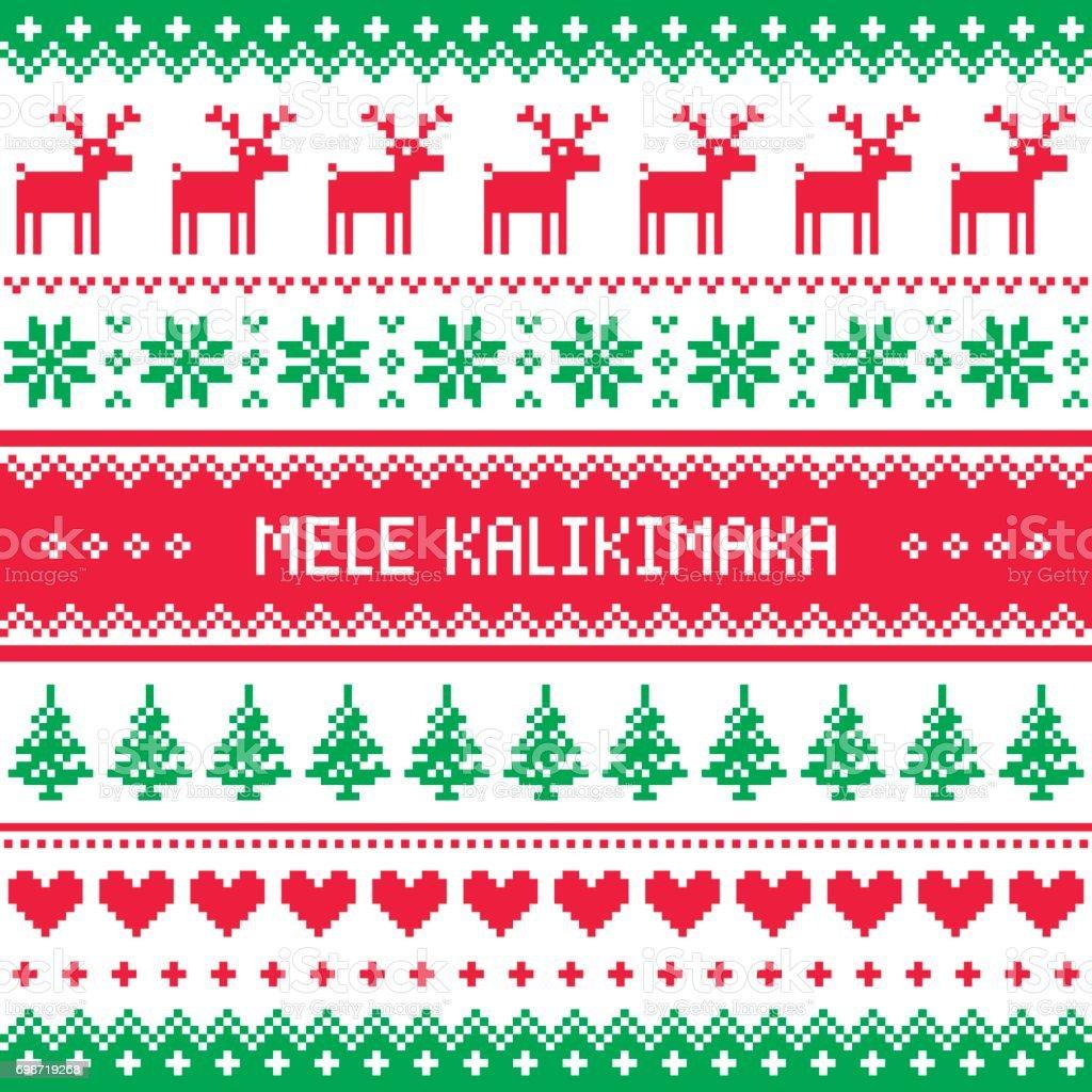 mele kalikimaka merry christmas in hawaiian greetings card seamless pattern royalty free mele