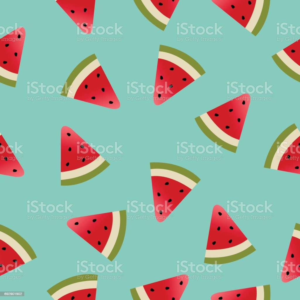Melon Pattern vector art illustration