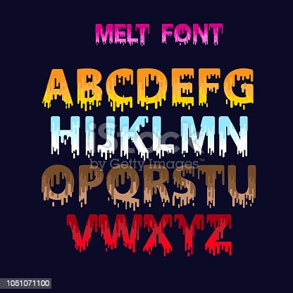 melt font set equipment