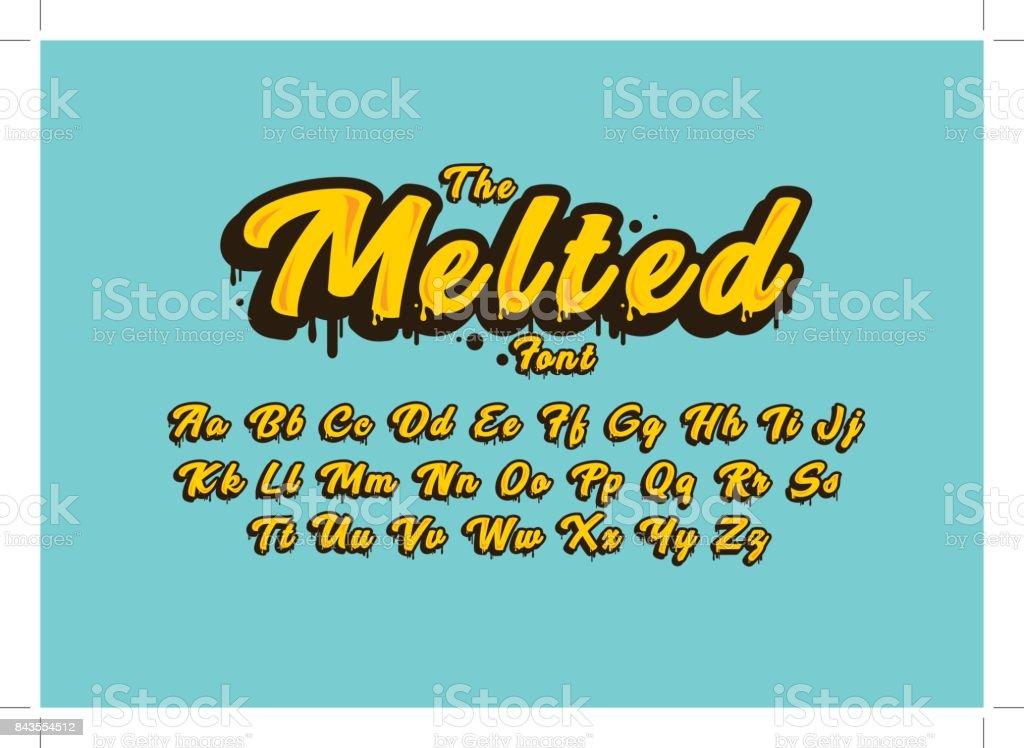 Melted alphabet - Grafika wektorowa royalty-free (Alfabet)