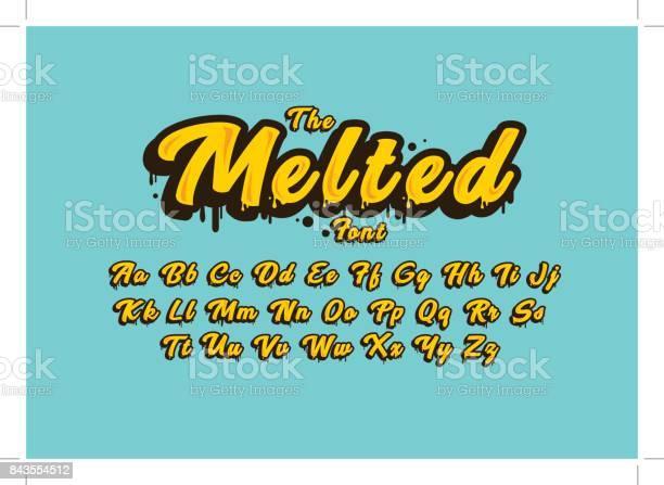 Melted Alphabet - Stockowe grafiki wektorowe i więcej obrazów Alfabet