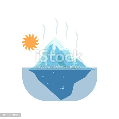 istock Melted glaciers under hot sun such problem global warming 1210278851