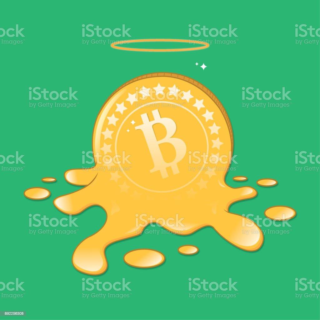 Bitcoin erime vektör sanat illüstrasyonu