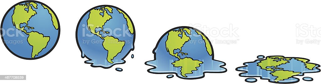 Melting Earth royalty-free stock vector art
