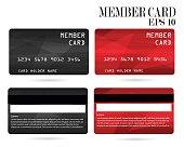member card, business VIP card, design for privilege member,vector