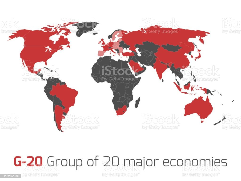 Picture of: G20 Member States World Map Stock Illustration Download Image Now Istock