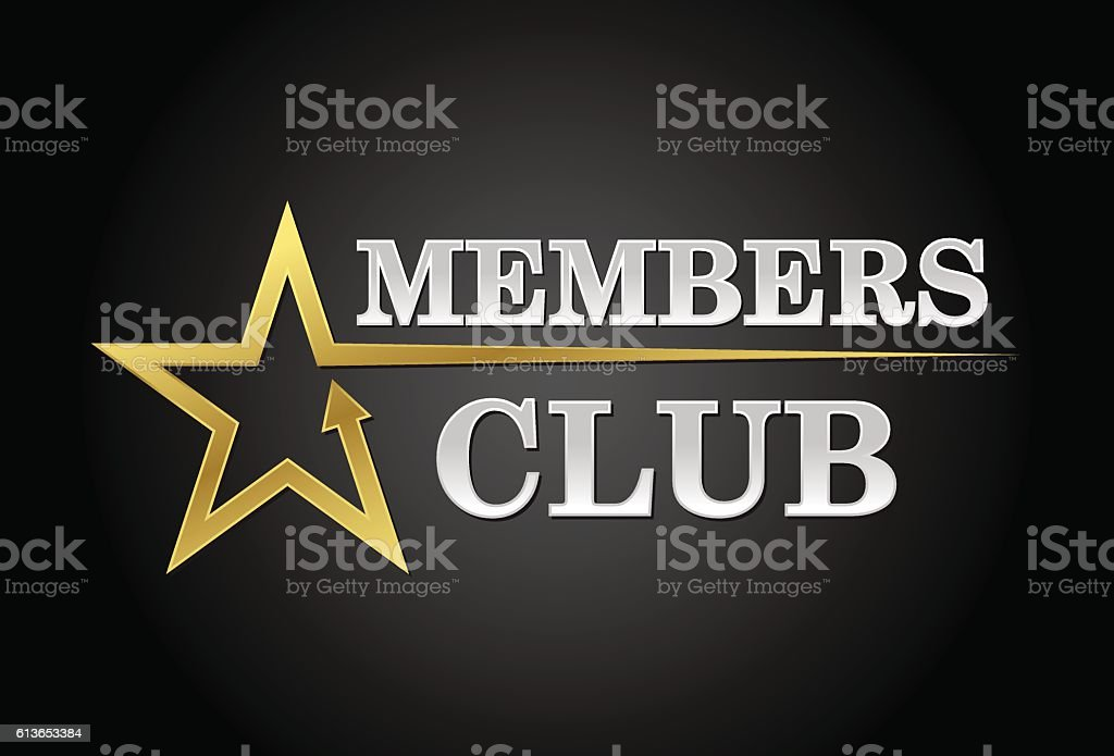 Members club vector art illustration