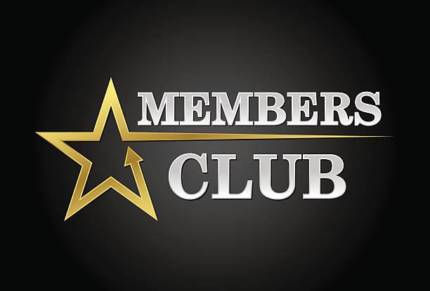 Members club vector art illustration