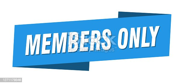 members only banner template. members only ribbon label sign