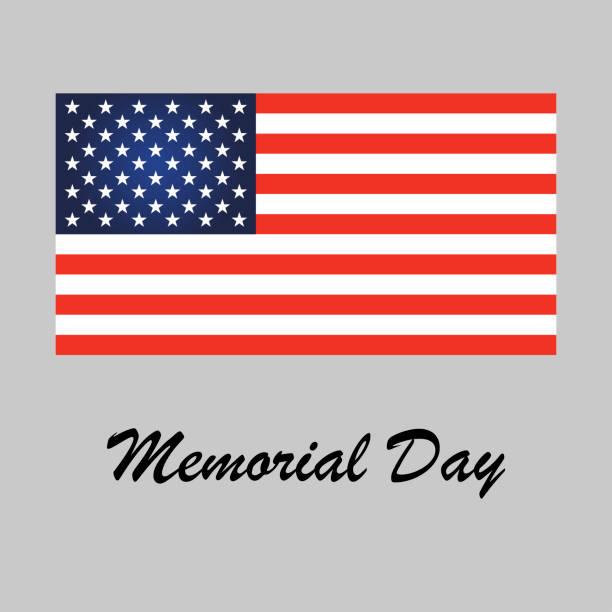 memorial day. american flag - memorial day stock illustrations