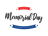 Memorial Day background card. Remember and honor. Vector illustration. EPS10