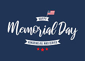 Memorial Day background. Honoring all who served. Vector illustration. EPS10