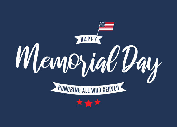 memorial day background. honoring all who served. vector - memorial day stock illustrations